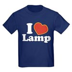 I Love Lamp Kids Dark T-Shirt