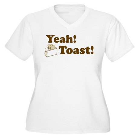 Yeah! Toast! Women's Plus Size V-Neck T-Shirt