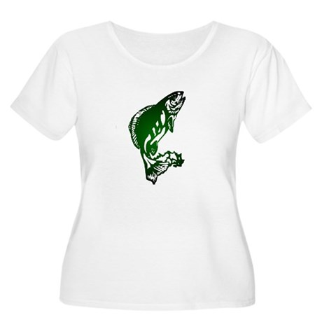 Fish Women's Plus Size Scoop Neck T-Shirt