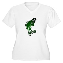 Fish Women's Plus Size V-Neck T-Shirt