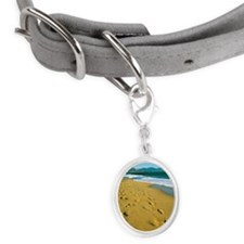 Nha Trang beach in Vietnam Small Oval Pet Tag