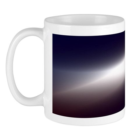 Flash of light in outer space Mug