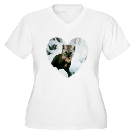 Little Fox Women's Plus Size V-Neck T-Shirt