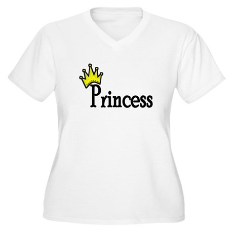 Princess Women's Plus Size V-Neck T-Shirt