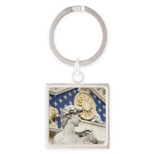 Statue of David Italy Square Keychain