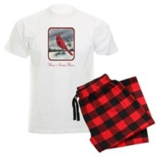 Red Northern Cardinal Bird Personalize Pajamas