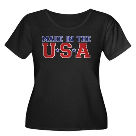 MADE IN THE USA Women's Plus Size Scoop Neck Dark