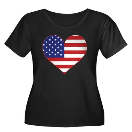 Stars & Stripes Heart Women's Plus Size Scoop Neck