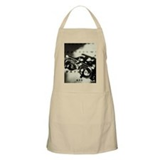 OPTHAMOLOGIST'S GLASSES IN BLACK AND WHITE Apron