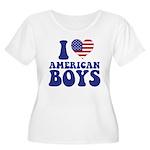 Love American Boys Women's Plus Size Scoop Neck T