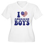 Love American Boys Women's Plus Size V-Neck T-Shi