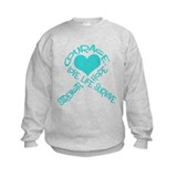 Teal Ribbon of Words Sweatshirt