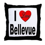 I Love Bellevue Throw Pillow