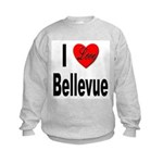 I Love Bellevue (Front) Kids Sweatshirt