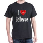 I Love Bellevue (Front) Dark T-Shirt