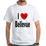 I Love Bellevue (Front) White T-Shirt