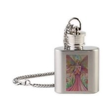 Wildflower Fairy Fantasy Art Flask Necklace