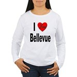 I Love Bellevue (Front) Women's Long Sleeve T-Shir