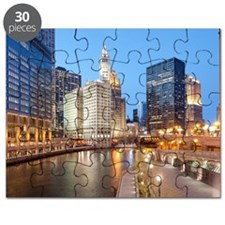 Chicago River, Downtown Chicago, Illinois,  Puzzle
