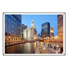 Chicago River, Downtown Chicago, Illinois,  Banner