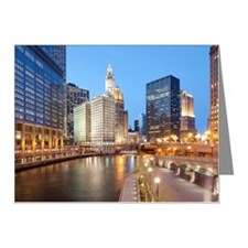 Chicago River, Downtown Chic Note Cards (Pk of 10)