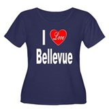 I Love Bellevue (Front) Women's Plus Size Scoop Ne