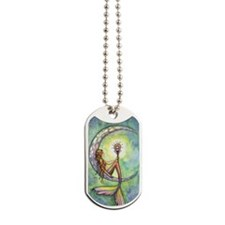 Mermaid Moon Fantasy Art Dog Tags