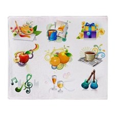 Leisure activity and refreshment ico Throw Blanket