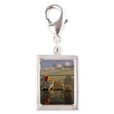 Adirondack chairs on Kennebu Silver Portrait Charm