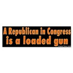 Republican Loaded Gun Bumper Sticker
