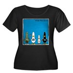 WTD: Blue Album Women's Plus Size Scoop Neck Dark