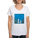 WTD: Blue Album Women's V-Neck T-Shirt