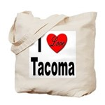 I Love Tacoma Tote Bag