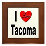 I Love Tacoma Framed Tile