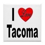 I Love Tacoma Tile Coaster