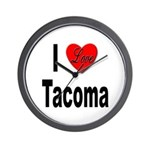 I Love Tacoma Wall Clock
