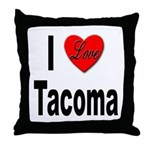 I Love Tacoma Throw Pillow