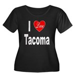 I Love Tacoma (Front) Women's Plus Size Scoop Neck