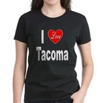 I Love Tacoma (Front) Women's Dark T-Shirt