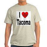 I Love Tacoma (Front) Light T-Shirt