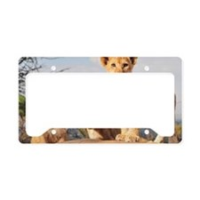 Lion cubs License Plate Holder