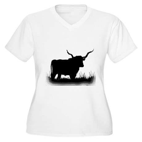 Longhorn Women's Plus Size V-Neck T-Shirt
