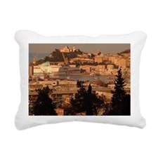 Panorama of harbor, Anco Rectangular Canvas Pillow