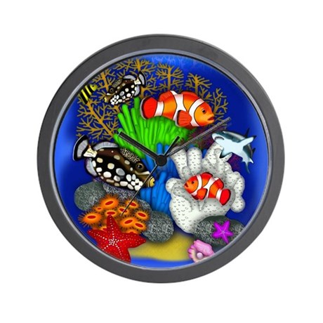 Tropical Fish Wall Clock
