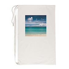 Tropical beach Laundry Bag