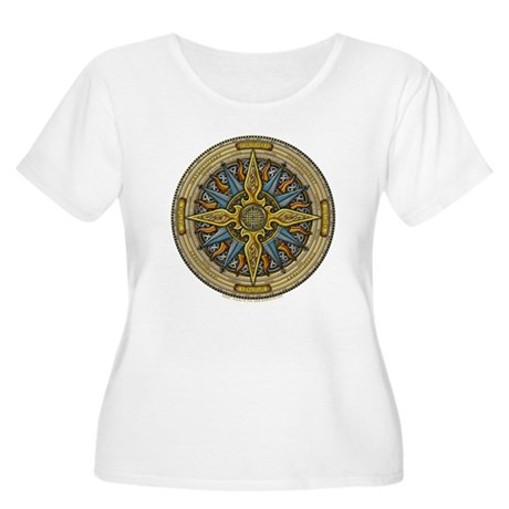 Celtic Compass Women's Plus Size Scoop Neck T-Shir
