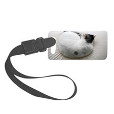Cat sleeping on bed Luggage Tag
