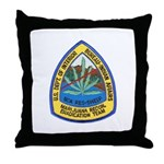 BIA Marijuana Recon Throw Pillow
