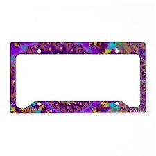 Psychedelic Purple Fractal Ar License Plate Holder