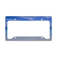 Beach and turquoise sea License Plate Holder